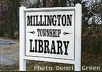 Township linrary sign