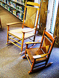 Photo of rocking chairs in the children's area